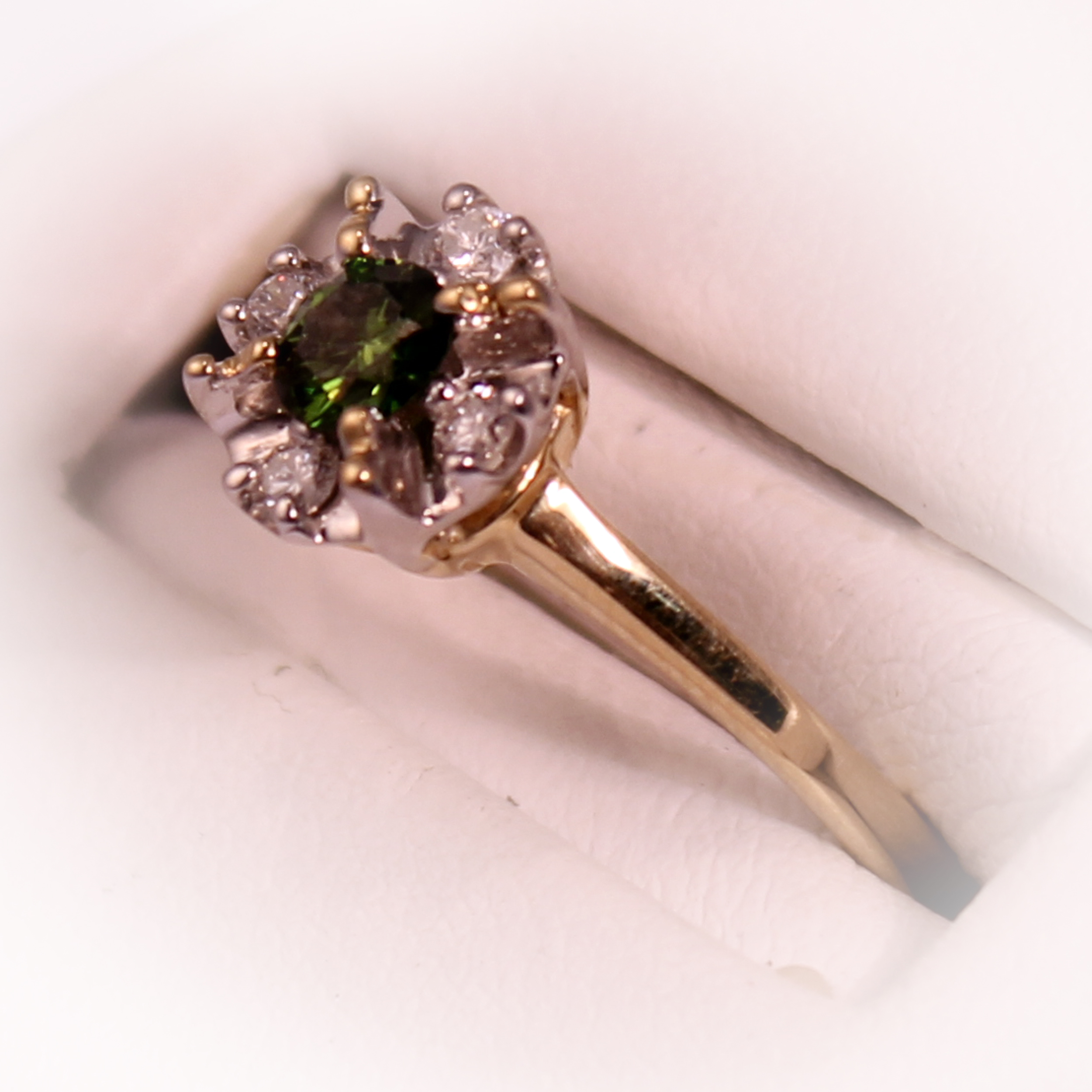 Green and White Diamond Fashion Ring – S-4161GR | Precious Metals ...