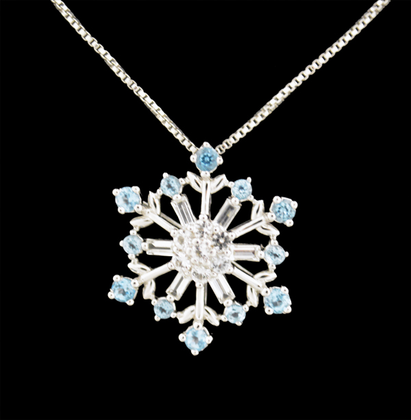 sterling silver swarovski snowflake necklace