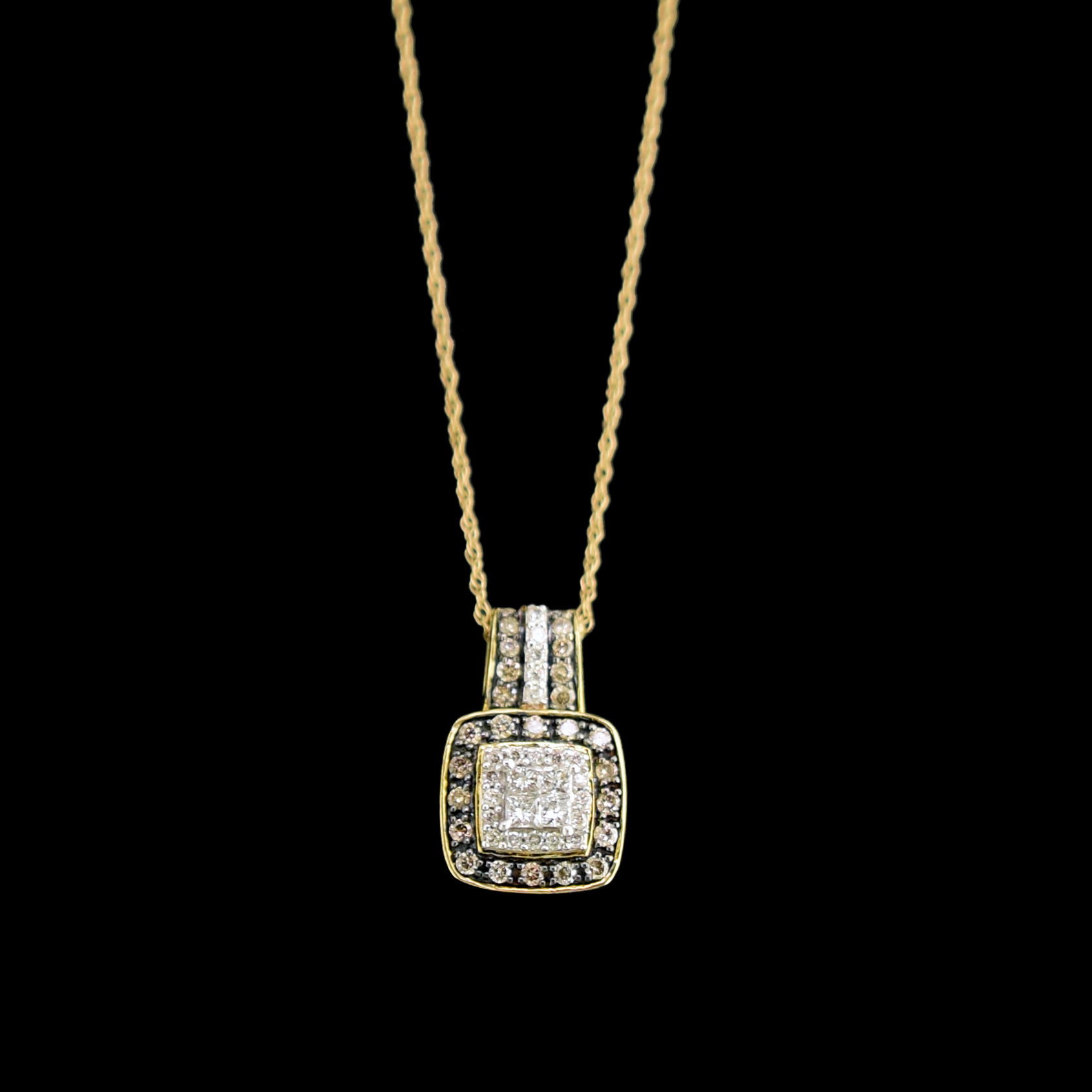 chocolate carat collection the leo necklace yellow gold diamond