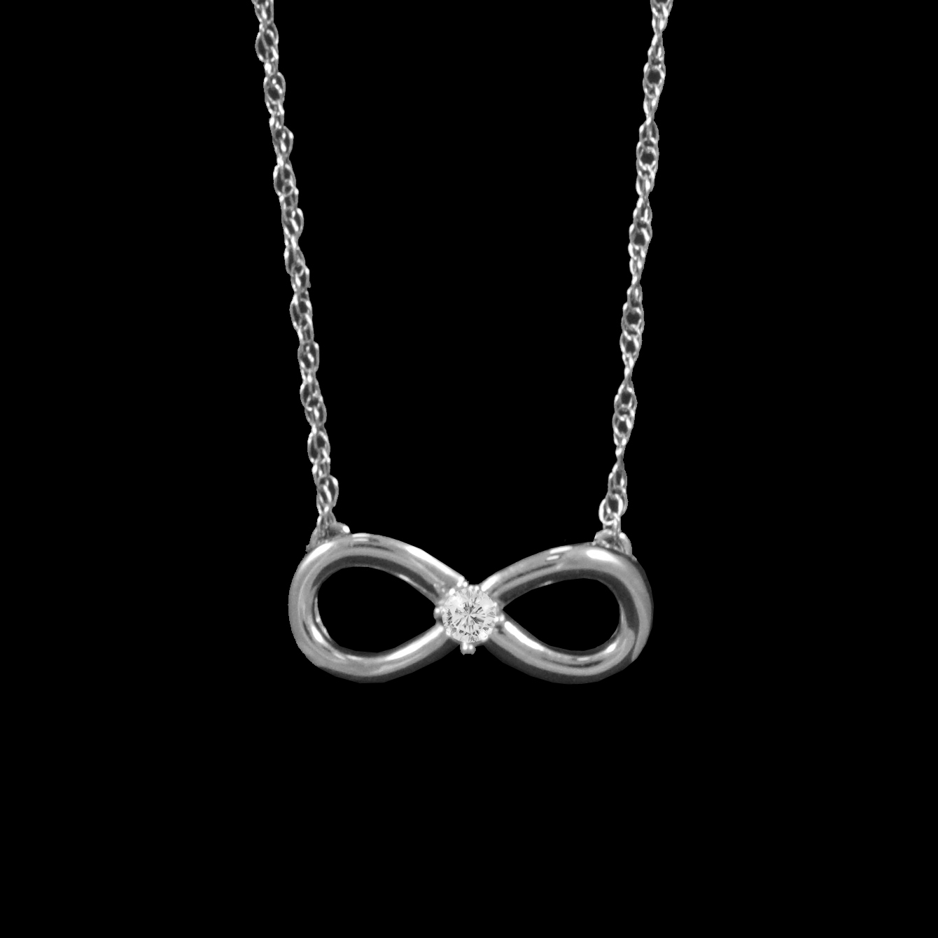 To acquire Necklace infinity white gold picture trends